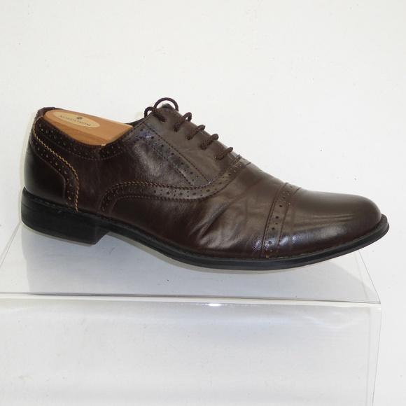 19c4b3af675 Madden Brown Brogue Captoe Oxfords Size 9.5M  091